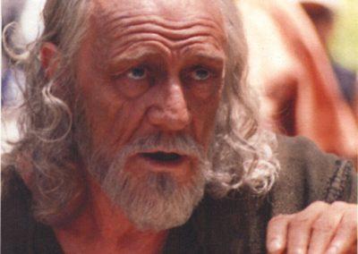 Richard Harris nel film Abraham make up Luigi Rocchetti