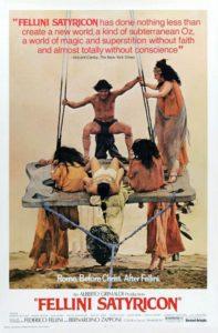 Locandina Satyricon di Federico Fellini