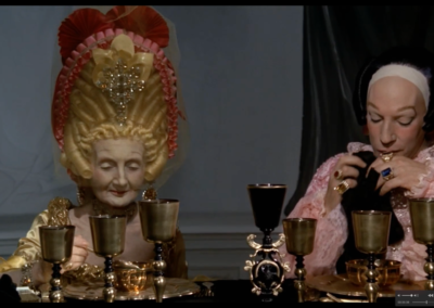 Donald Sutherland con parrucca Rocchetti nel film Il Casanova di Fellini