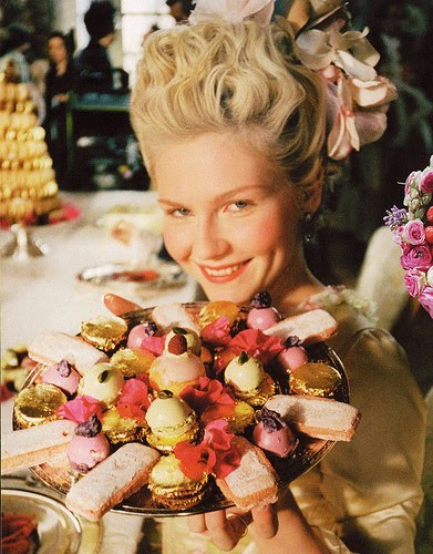 Marie Antoinette with Laduree Pastries