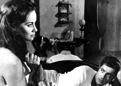 Alida Valli e Farley Granger in Senso di Visconti. Parrucche Rocchetti-Rocchetti