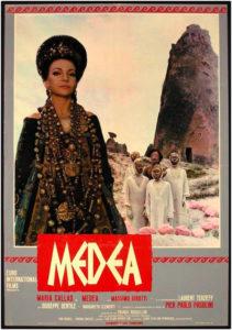 locandina Medea di Pier Paolo Pasolini con Maria Callas