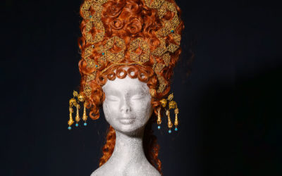 Parrucca castana per Satyricon