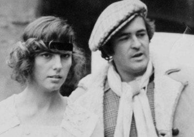 Set del film Novecento con Stefania Sandrelli e Bernardo Bertolucci