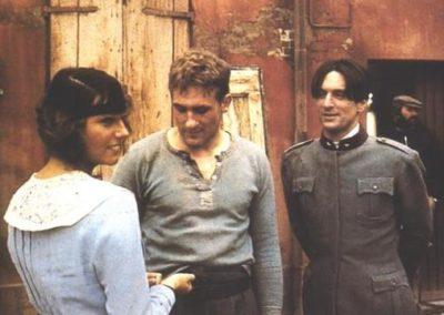 Stefania Sandrelli, Robert De Niro e Gerard Depardieu in Novecento