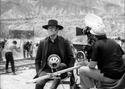 Henri Fonda in una scena di C'era una volta il West, 1969.