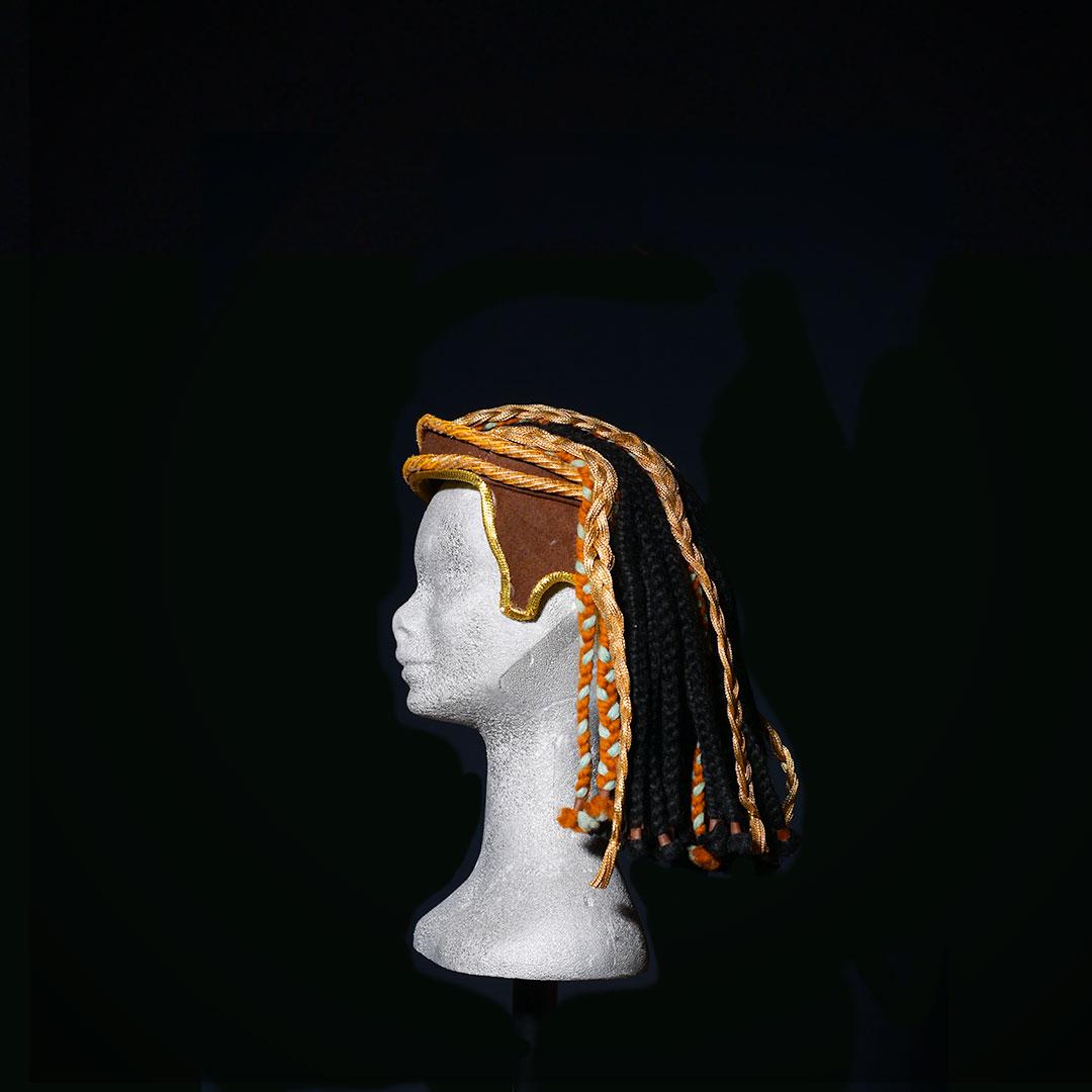 Parrucca Egitto con caschetto frontale