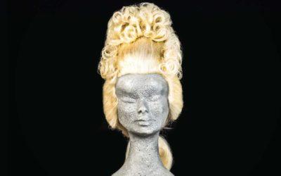Parrucca '700 da donna biondo platino