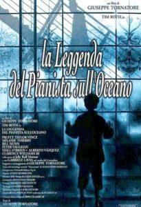 locandina la leggenda del pianista sull'oceano con trucco Luigi Rocchetti