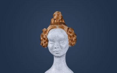 Parrucca con chignon