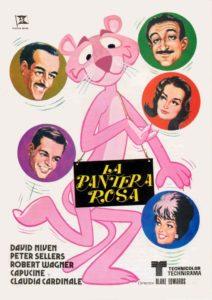 Locandina film la pantera rosa con parrucche Rocchetti