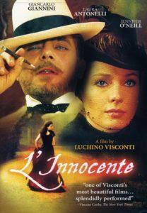 Locandina del film L'innocente di Luchino Visconti con parrucche Rocchetti