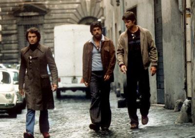 Scene di Romanzo Criminale con parrucche Rocchetti